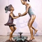 jumbo large 41 inch Bronze beach girls fountain yard decor
