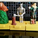 WIZARD OF OZ  tin man scarecrow lion moving action toy vintage figures set