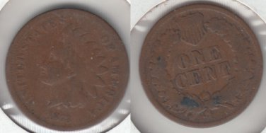 NICE GOOD +  1873 INDIAN CENT