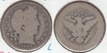 KEY DATE 1893S BARBER HALF DOLLAR