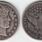 1915D BARBER HALF DOLLAR  FINE