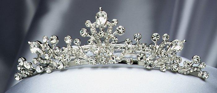 Silver Rhinestone Tiara