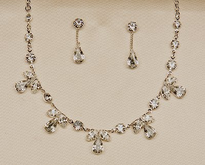 Silver Necklace and Earrings Set (Style # 928)