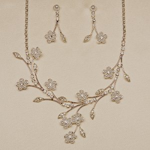 White or Ivory Necklace and Earrings Set (Style # 927)