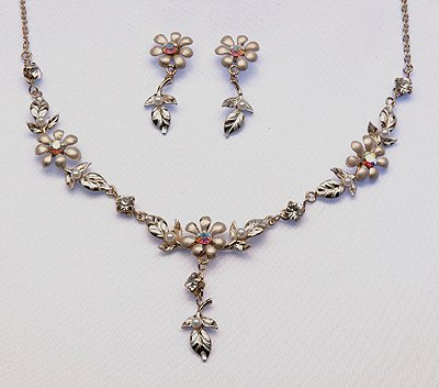 Frosted  Necklace/Earrings Set (Style # 920)