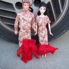 Handmade Cream New Years Set For Barbie & Ken Mermaid Style