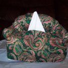 Handmade Green Paisley Couch Tissue Cover