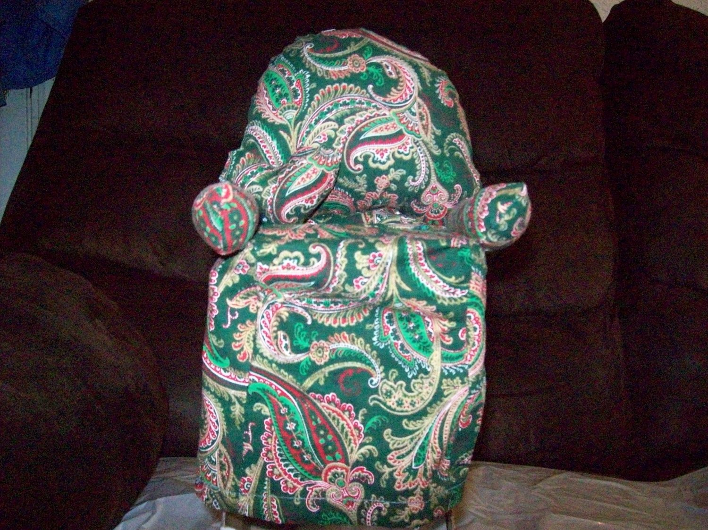 Handmade Green Paisley Chair Tissue Box Cover