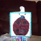 Handmade Plastic Canvas Ladybug Tissue Box Cover