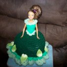 Barbie Toilet Tissue Cover Doll In Dark Green