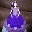 Barbie Toilet Tissue Cover Doll In Dark Purple