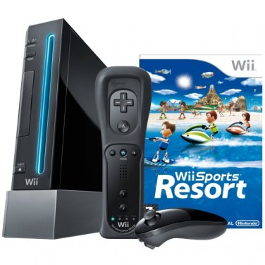Black Nintendo wii (Sport's Resort Bundle)
