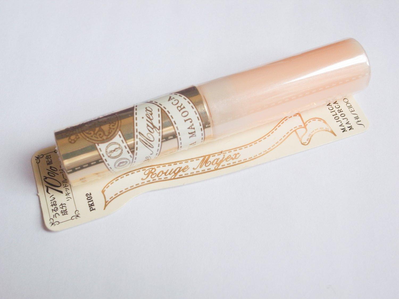 Shiseido Majolica Majorca Rouge Majex lip gloss PK102