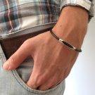 Men's Bracelet - Men's Tube Bracelet - Men's Black Bracelet - Men's Jewelry - Bracelets For Men