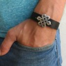 Men's Bracelet - Men's Infinity Bracelet - Men's Brown Bracelet - Men's Leather Bracelet