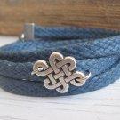 Men's Bracelet - Men's Infinity Bracelet - Men's Jewelry - Husband Gift - Boyfriend Gift - Vegan