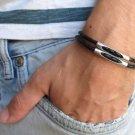 Men's Bracelet - Men's Tube Bracelet - Men's Leather Bracelet - Men's Jewelry - Men's Gift
