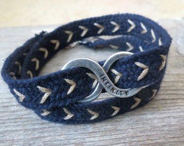 Men's Bracelet - Men's Infinity Bracelet - Men's Blue Bracelet - Men's Jewelry