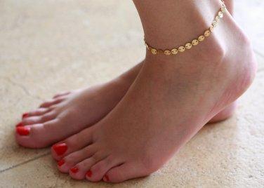 Gold Anklet - gold Ankle Bracelet - Geometric Anklet - Foot Jewelry - Foot Bracelet