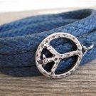 Men's Bracelet - Men's Peace Bracelet - Men's Jewelry - Husband Gift - Boyfriend Gift - Vegan