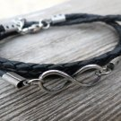 Men's Bracelet - Men's Infinity Bracelet - Men's Leather Bracelet - Men's Jewelry - Men's Gift