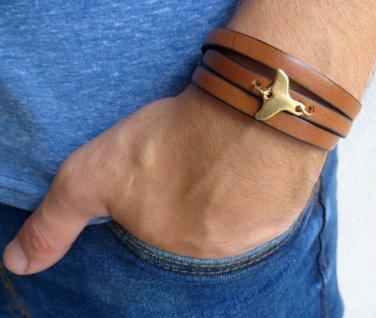 Men's Bracelet - Men's Tail Bracelet - Men's Leather Bracelet - Men's Jewelry - Men's Gift