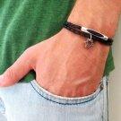 Men's Bracelet - Men's Tube Bracelet - Men's Black Bracelet - Men's Jewelry