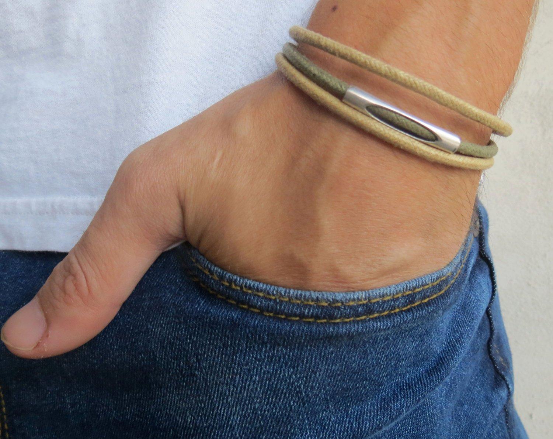Men's Bracelet - Men's Cuff Bracelet - Men's Jewelry - Husband Gift - Boyfriend Gift - Vegan