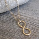 Men's Necklace - Men's Infinity Necklace - Men's Gold Necklace - Mens Jewelry