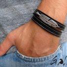 Men's Bracelet - Men's Feather Bracelet -  Men's Leather Bracelet - Men's Jewelry - Men's Gift