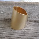Gold Ring - Adjustable Ring - Wide Ring - Cuff Ring - Stack Ring - Tube Ring