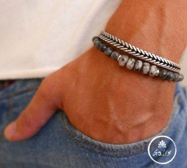 Men's Bracelet Set - Set of 2 Bracelets For Men - Men's Jewelry - Men's Gift - Boyfriend Gift