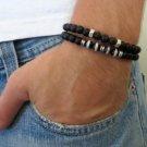 Men's Bracelet Set - Set of 2 Bracelets For Men - Men's Beaded Bracelet - Men's Jewelry - Men's Gift