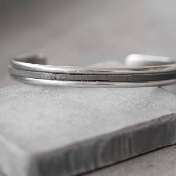 Men's Cuff Bracelet - Men's Silver Bracelets - Men's Chain Bracelets - Men's Jewelry - Men's Gift