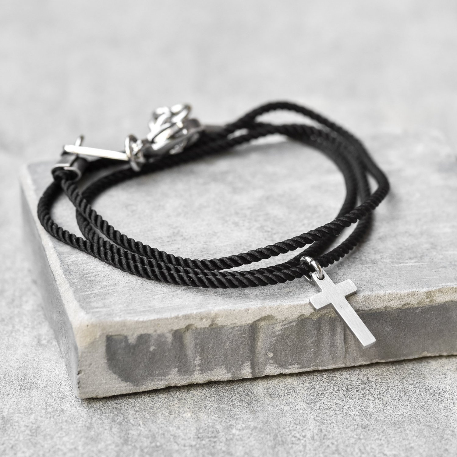 Men's Cross Bracelet - Men's Religious Bracelet - Men's Christian Bracelet - Men's Jewelry
