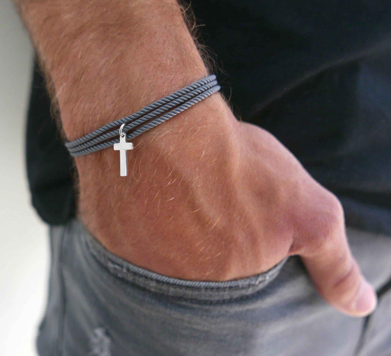 Men's Cross Bracelet - Men's Religious Bracelet - Men's Christian Bracelet - Men's Jewelry