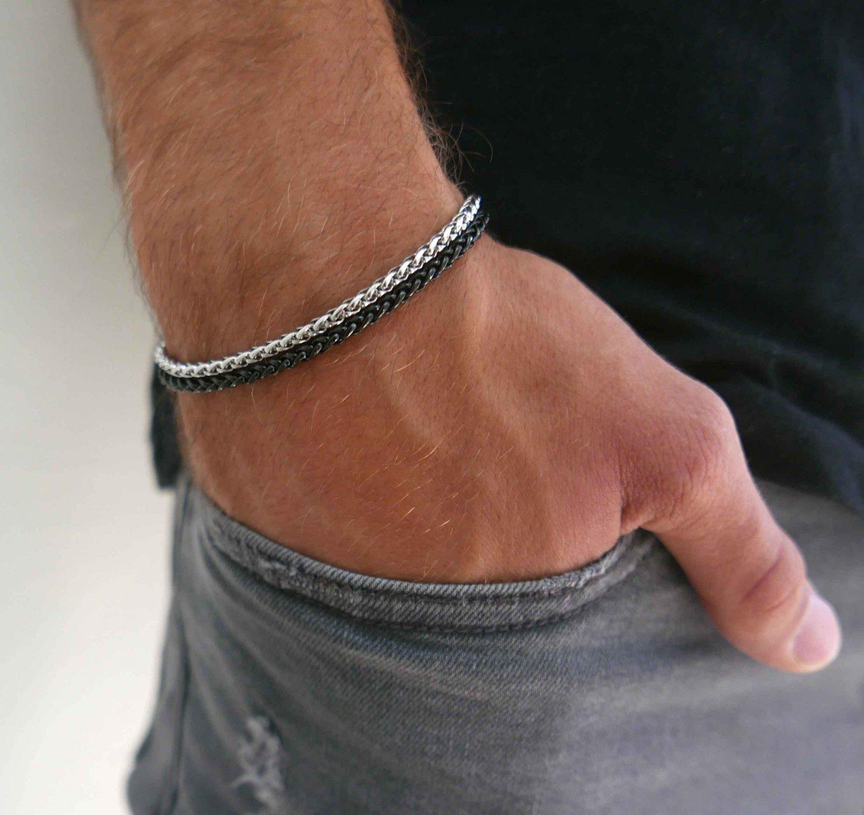 Men's Bracelet - Men's Silver Bracelets - Men's Chain Bracelets - Men's Jewelry - Men's Gift