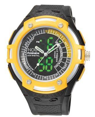 HighQuality PASNEW LED+Pointer Water-proof Dual Time Boys Girls Sport Watch--N4