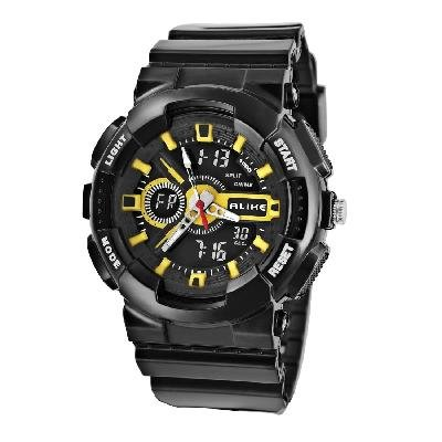 Unisex AK1383 Round Dial AL35 TPU Rubber Strap Waterproof Diving Watch New