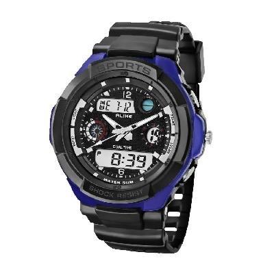 ALIKE AK1170 50M Waterproof Digital Watch Quartz Analog Watch Wristwatch Timepiece for Men Male Boy