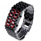 Red LED Digital Watch Lava Style Faceless sports watches