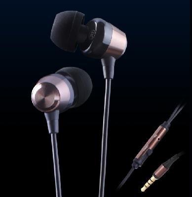 KingTime Coffee 3.5mm plug in-ear stereo PU metal earphones for iphone, ipod, ipad,samsung