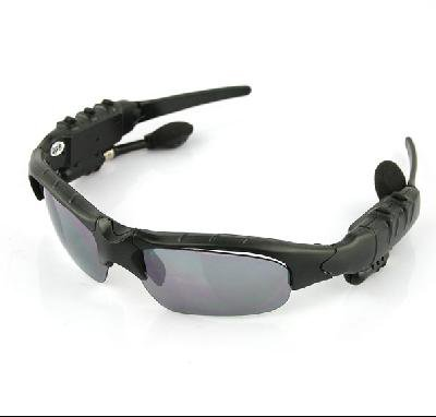 Bluetooth + FM radio-Headset Sunglasses Mp3 Player-2GB
