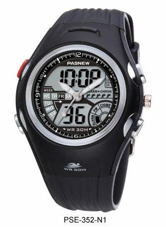 PASNEW Water-proof Boy and Girl Sport Watch Double Movement PSE-352