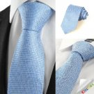 New Squared Blue JACQUARD Mens Tie Suit Necktie Wedding Party Holiday Gift #1065