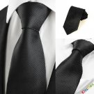 Classic Striped Black Men Tie Formal Necktie Wedding Funeral Evening Gift