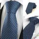 New Squared Checked avy JACQUARD Men's Tie Necktie Wedding Holiday Gift #0027