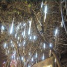 White Color LED Meteor Shower Rain Tube Lights Outdoor Tree Decoration