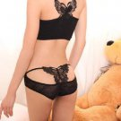 Sexy Panties Jacquard Silk Hollow Embroidery Butterfly Women Lace T-back Lingerie G-string