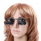 20X Magnification 2 Glasses Gauge Lens Type Watch Repair Magnifier LED Light